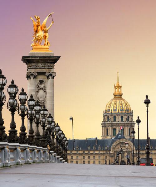 Pont Alexandre III sunrise