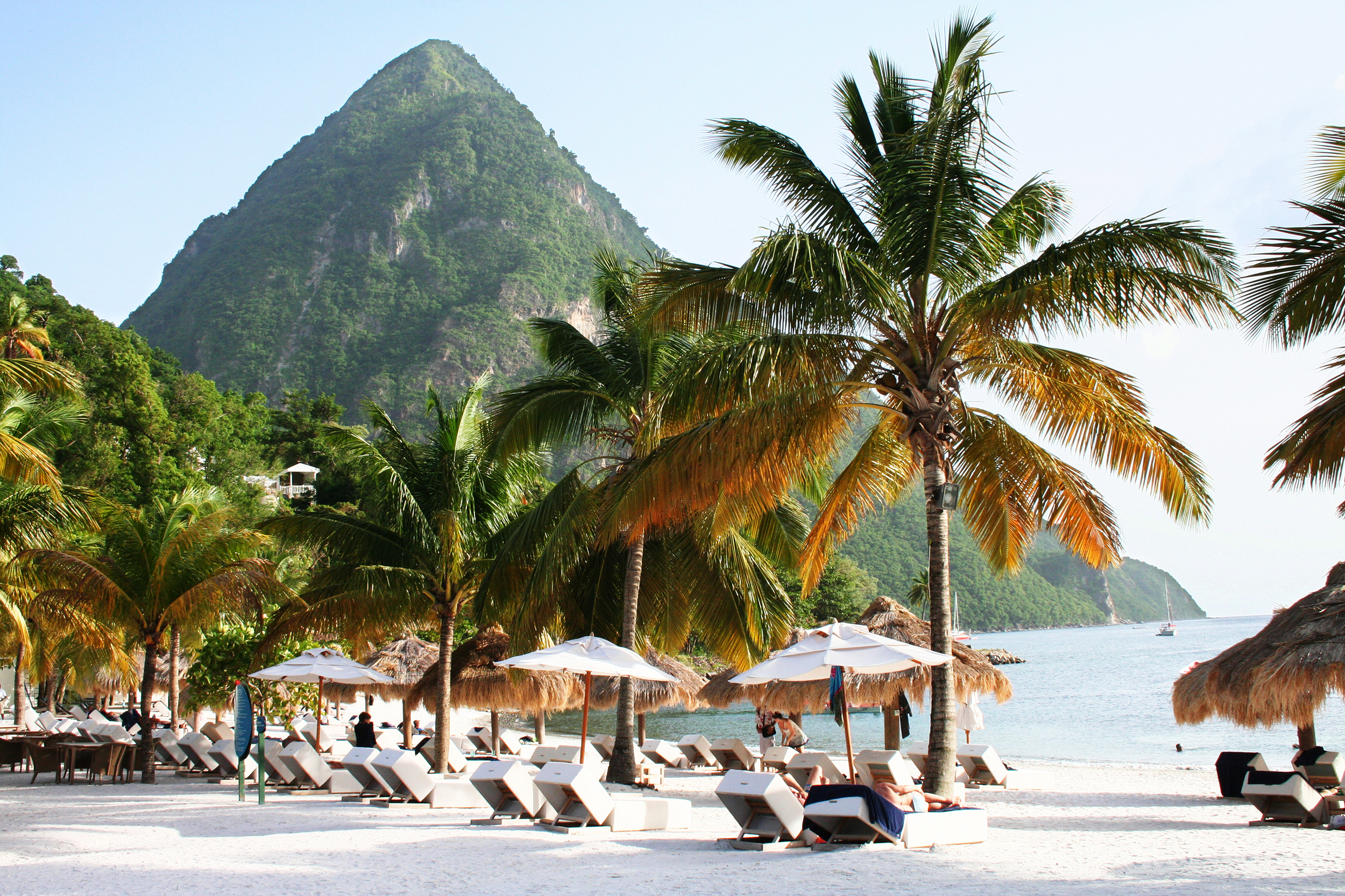 The Pitons in St Lucia