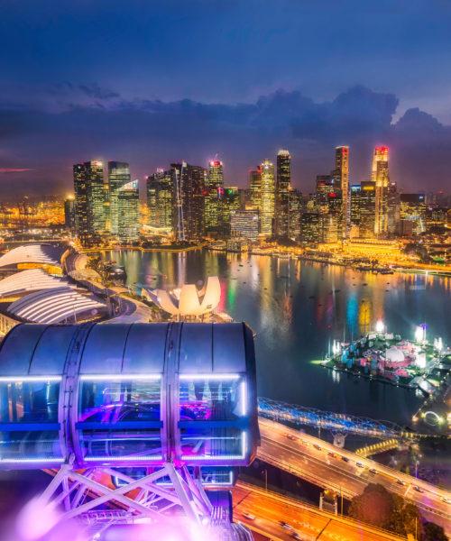 singapore city top view