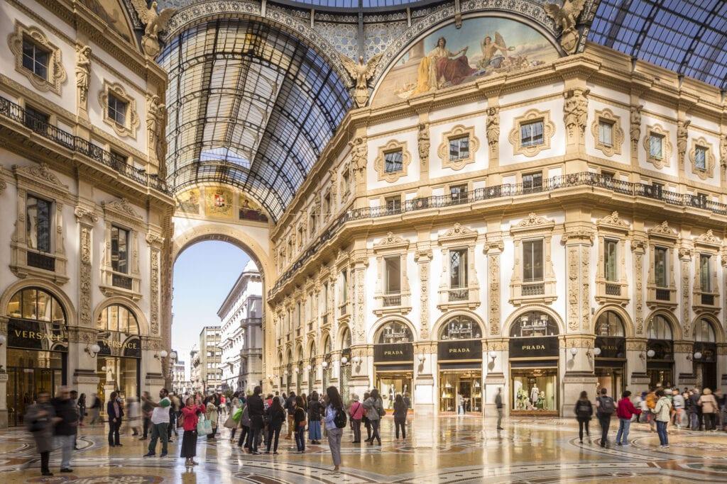 The Galleria Vittorio Emanuele II in Milan